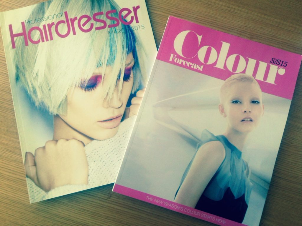 This SS15 Colour Forecast has been publishes in numerous magazines including Professional Hairdresser and the Colour Forecast supplement by Creative HEAD.